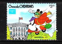 Grenadine Grenada  - 1971. Topolino In Aereo Su Washington. Mickey Flying Over Washington. MNH - Disney
