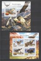ST2218 2016 MOZAMBIQUE MOCAMBIQUE FAUNA BIRDS OF PREY RAPINA 1KB+1BL MNH - Arends & Roofvogels