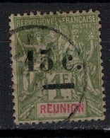 REUNION         N° YVERT  :     55 ( Clair Au Dos )        OBLITERE     ( OB   03/59  ) - Reunion Island (1852-1975)