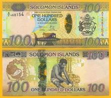 Solomon Islands 100 Dollars P-36 2015 UNC Banknote - Isola Salomon