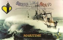 Nord Pas De Calais-maritime- Carte De QSL -sierra Bravo Lima-chalutier -a La ...de Dieu- Cpsm - Radio Amateur
