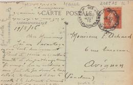 CARTE.1916. ANCERVILLE MEUSE. AMBULANT GUE-ANCELLE A SAVONNIERES-EN-Ps - Railway Post
