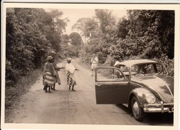 AUTO CAR VOITURE VOLKSWAGEN MAGGIOLINO BEETLE - FOTO ORIGINALE AFRICA - Automobili