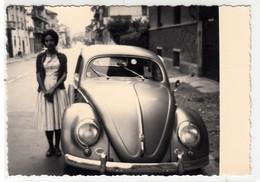 AUTO CAR VOITURE VOLKSWAGEN MAGGIOLINO BEETLE - FOTO ORIGINALE - Automobiles