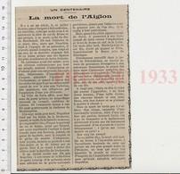 Presse 1933 Centenaire De La Mort De L'Aiglon Histoire De France 223CHV6 - Unclassified
