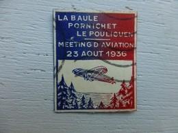 Vignette Meeting Aviation La Baule Pornichet Le Pouliguen 1936 ; Ref ALB01 - Zonder Classificatie