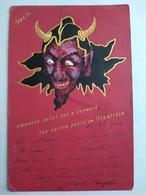 CPA  DIABLE - Litho Finitions Dorée 1900. Que Le Diable Emporté Celui Qui A Inventé Les Cartes Postales Illustrées. Be - Phantasie