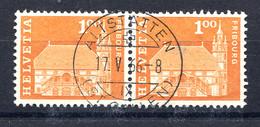Schweiz, 1960 Baudenkmäler, Fribourg  Rundstpl.  Altstätten - Switzerland