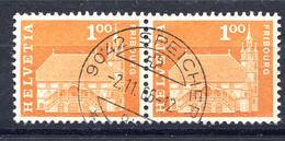 Schweiz, 1960 Baudenkmäler, Fribourg  Rundstpl.  Speicher - Switzerland