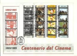 1995 - San Marino BF 51 Centenario Del Cinema - FDC - Cinema