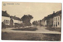 Lanquesaint  Cheval Avec Chariot Sur La Place - Ath