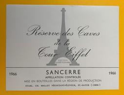 10623 - Réserve Des Caves De La Tour Eiffel Sancerre 1966 - Etiquettes