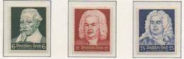 PIA - GER - 1935 : Anniversario Della Nascita Dei Compositori H.Schutz,J.S.Bach E G.F.Hendel -   (Yv 532-34) - Muziek
