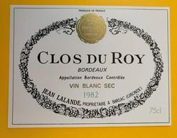 10625 - Clos Du Roy Blanc Sec 1982 - Bordeaux
