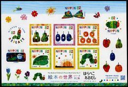 Japan (2018) - MS -  /  Children Drawings - Papillons - Butterflies - Fruits - Butterflies