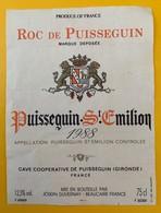 10627  - Roc De Puisseguin 1988 - Bordeaux