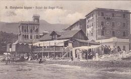 SANTA MARGHERITA LIGURE SALUTI DAI BAGNI FLORA   VG   AUTENTICA 100% - Genova (Genoa)