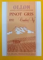 10629  - Ollon Pinot Gris 1992 Combaz-Vy Drapel Aigle Suisse - Etiquettes