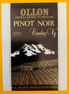 10630  - Ollon Pinot Noir 1992 Combaz-Vy Drapel Aigle Suisse - Etiquettes