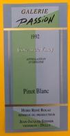 10632  - Galerie Passion Côteau De Vincy 1992 Suisse 6 Cépages Pinot Noir, Pinot Gris, Chasselas, 6 étiquettes - Etiquettes