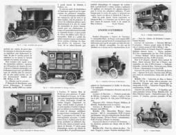 ESSAIS MILITAIRES D'AUTOMOBILES En 1900 Et CONCOURS  D'AUTOMOBILES   1901 - Vehicles