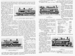 LES LOCOMOTIVES ETRANGERES  à L'EXPOSITION UNIVERSELLE De 1900  1901 - Railway