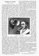 TELEPHONE HAUT-PARLEUR Systéme GAILLARD  1901 - Technical