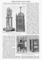 PENDULES EN CARTON, EN BUIS , En IVOIRE  1901 - Bijoux & Horlogerie