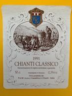 10635  - Chianti Classico 1991 Italie - Etiquettes