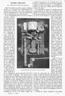 APPAREIL INDICATEUR Des VITESSES DE ROTATION Des MACHINES   1901 - Technical