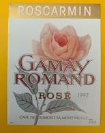 10636  - Roscarmin Gamay Romand Rosé 1992 Suisse - Roses