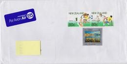 New Zealand Envelope With Mi 877 Lake Alexandrina - Mi 1158-1159 Centenary Of NZ Football Association - Zonder Classificatie