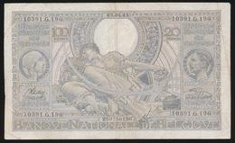 100 FRANCS 20 BELGAS  03.04.43   2 SCANS - [ 2] 1831-... : Royaume De Belgique