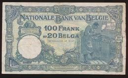 100 FRANCS 20 BELGAS  10.05.32   2 SCANS - 100 Francs & 100 Francs-20 Belgas