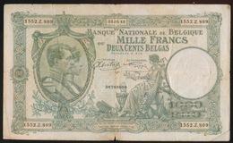 1000 FRANCS 200 BELGAS  22.05.42   2 SCANS - [ 2] 1831-... : Royaume De Belgique