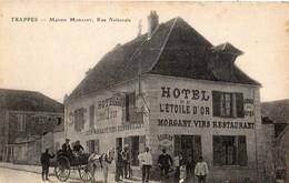 Trappes  78   La Rue Nationale Tres Animée-Attelage Charette Et Maison MORGANT Hotel-Restaurant L'Etoile D'Or - Trappes