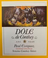 10640  -  Dôle De Conthey Paul Evequoz Suisse Combat De Reines - Vaches