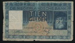10 GULDEN 1938    2 SCANS ZIE STAAT BILJET - [2] 1815-… : Koninkrijk Der Verenigde Nederlanden