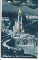 L120B449 - Lourdes -Basilique Notre Dame La Nuit   - Edition Viron N°26 - Lourdes