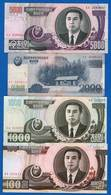 Corée  4  Billets - Corée Du Nord