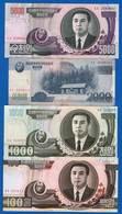 Corée  4  Billets - Korea, North
