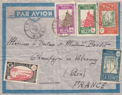 NIGER  -  LETTRE PAR AVION ZINDER 10.DEC.1938 POUR CHAMPAGNE EN VALROMEY AIN  /1 - Níger (1921-1944)