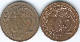 New Zealand - Elizabeth II - 2 Cents - 1975 (KM32) & 1987 (KM59) - Nouvelle-Zélande