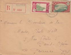 NIGER  - LETTRE RECOMMANDEE ZINDER POUR PARIS /1 - Níger (1921-1944)