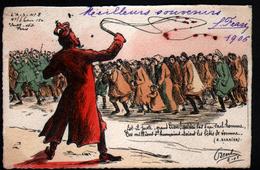 Guerre Russo-japonaise, Illustrateur Orens, L'Actualiste Satirique N°8 ( 150 Ex ),pensée De A. Barbier - Orens