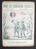 Musica Spartito - Inno Dei Contadini Fascisti - Ed. 1923 Marletta - Vieux Papiers