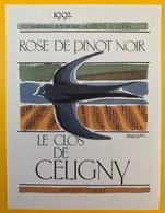 10644  - Rosé De Pinot Noir 1992 Le Clos De Céligny  Suisse - Etiquettes