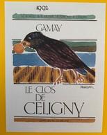 10645  - Gamay 1992 Le Clos De Céligny  Suisse - Etiquettes