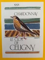 10647  - Chardonnay  1992 Le Clos De Céligny  Suisse - Etiquettes
