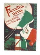 Musica Spartito - Faccetta Nera - La Canzone Dei Legionari - Marcia - Ed. 1935 - Unclassified